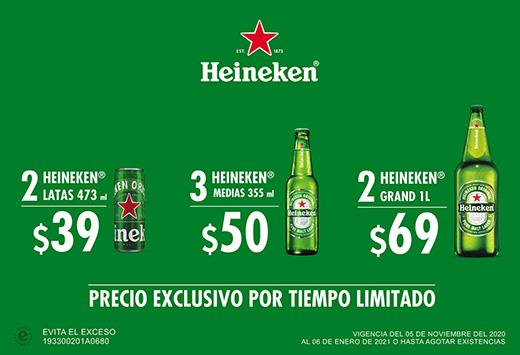 Heineken a precio especial por tiempo limitado