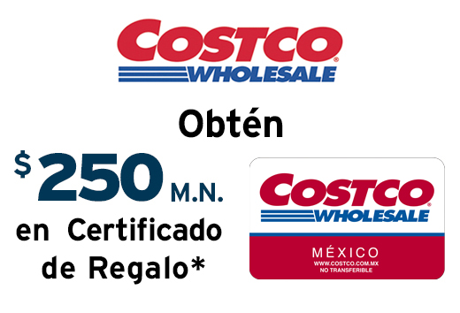 Hasta $250 de regalo en membresía regular