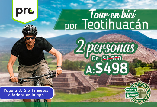 Tour en bici 2 personas $498