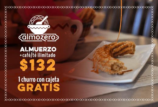 Desayuno completo + churro gratis $132