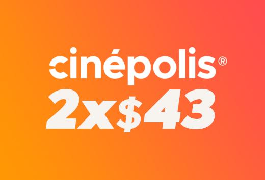 2 entradas por $43