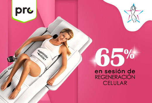 65% en sesión de regeneración celular