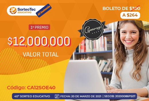Sorteo educativo $264