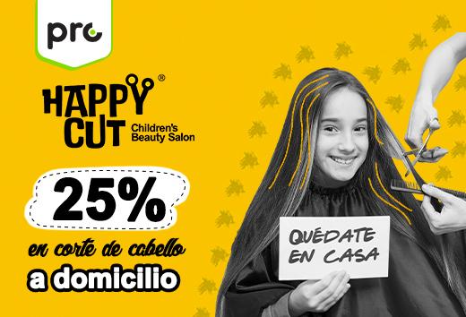 25% en corte de cabello a domicilio