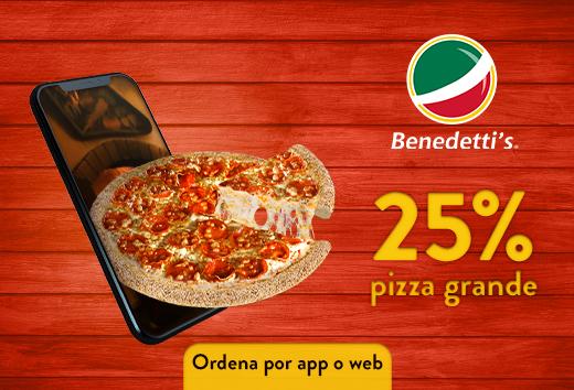 25% pizza grande