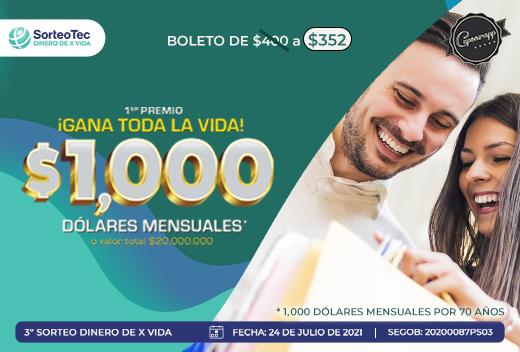 Sorteo Dinero De X Vida $352