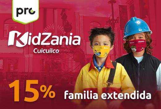 15% entradas para 4 niños + 2 adultos