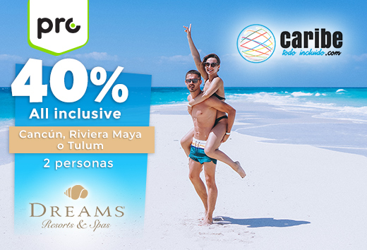 40% all inclusive en Caribe Mexicano