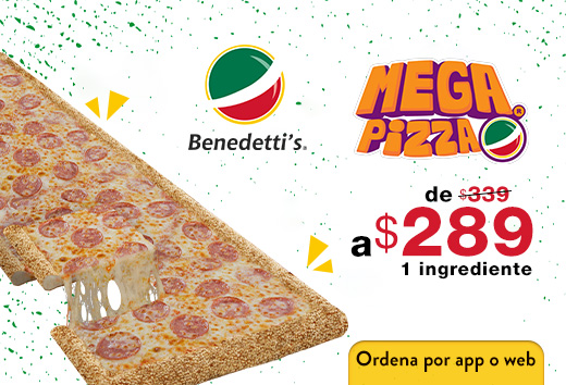 Mega pizza 1 ingrediente $289