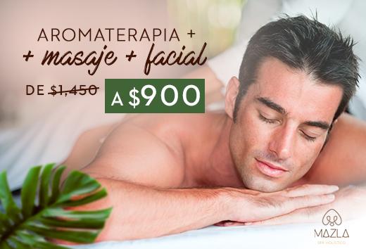 Aromaterapia + masaje + facial$900