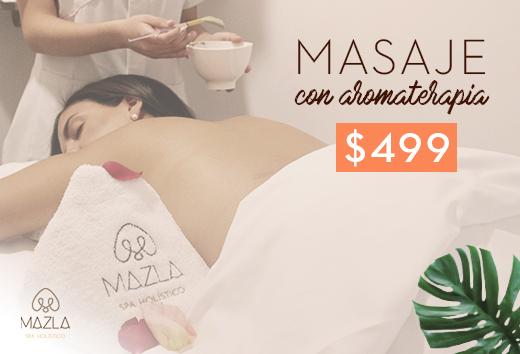 Masaje con aromaterapia $499