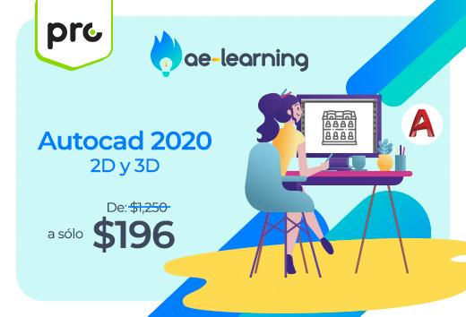 Autocad 2020 2D y 3D $196