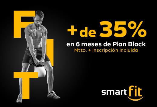 Más de 35% en Plan Black de 6 meses