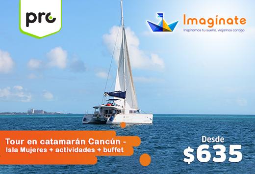 Tour en catamarán+ actividades+ buffet desde $635