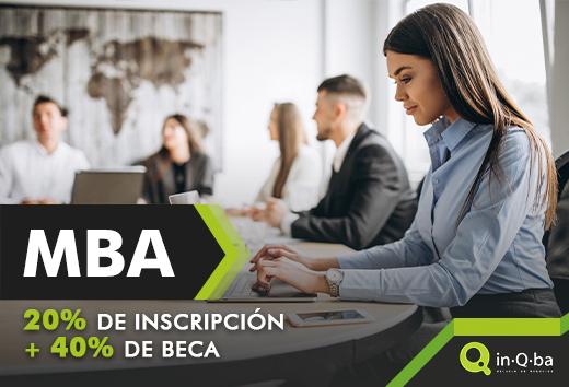 MBA 20% inscripción+ 40% beca
