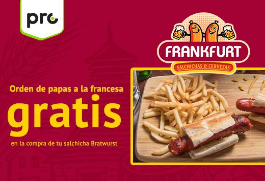 Papas a la francesa gratis en la compra de Bratwurst